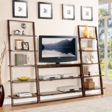 Lean Living - Leaning Bookcase - Burnished Brownstone Finish