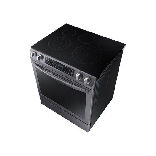 5.8 cu. ft. Slide-In Electric Range in Black Stainless Steel