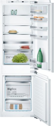"800 Series 24"" Built-In Bottom Freezer Refrigerator with Home Connect, B09IB81NSP, Custom Panel B09IB81NSP"