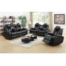 Zimmerman Black Faux Leather Power Motion Three-piece Living Room Set Product Image