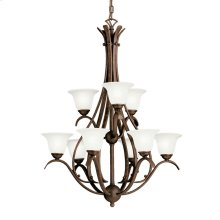 Dover 9 Light Chandelier Tannery Bronze