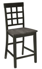 Counter Chair (2/Ctn) - Gray/Black Finish Product Image