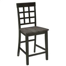 Counter Chair (2/Ctn) - Gray/Black Finish