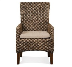 Mix-N-Match Woven Arm Chair Hazlenut finish