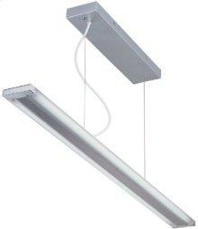 Fluor. Ceiling Lamp, Silv/frost, Fluor. T5/6400k Tube 28wx2