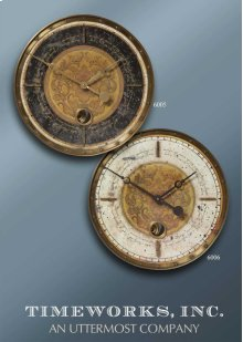 Leonardo Script Cream, Wall Clock