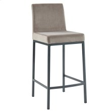 Diego 26'' Counter Stool, set of 2, in Grey with Grey Legs