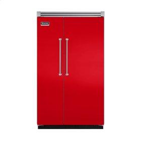 "Racing Red 48"" Quiet Cool™ Side-by-Side Refrigerator/Freezer - VISB Tru-Flush™ (48"" wide)"