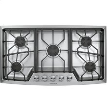 """Monogram 36"""" Stainless Steel Gas Cooktop (Natural Gas)-(ZGU385NSMSS)- ONLY AT THE JONESBORO LOCATION !!"""