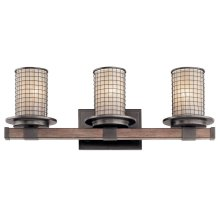 Ahrendale 3 Light Vanity Light Anvil Iron
