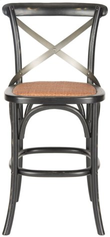 Eleanr X Back Counterstool - Distressed Hickory