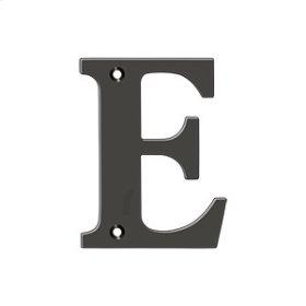 """4"""" Residential Letter E - Oil-rubbed Bronze"""
