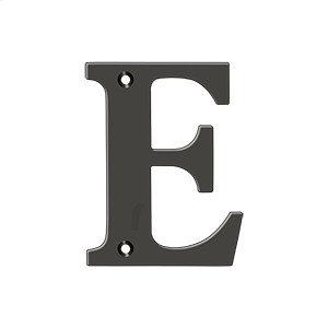 "4"" Residential Letter E - Oil-rubbed Bronze Product Image"