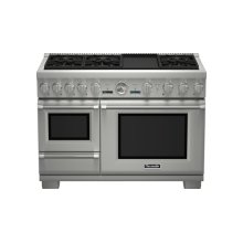48 inch Professional Series Pro Grand Commercial Depth Dual Fuel Steam Range PRD48JDSGC