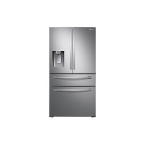 Samsung23 cu. ft. Counter Depth 4-Door French Door Refrigerator with FlexZone Drawer in Stainless Steel