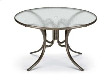 "Obscure Acrylic Top Table 48"" Round Dining Table w/ hole"