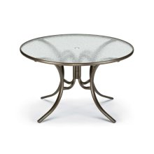 """Obscure Acrylic Top Table 48"""" Round Dining Table w/ hole"""