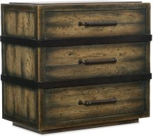 Crafted Three-Drawer Nightstand