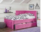 Avery Pink Corner Daybed with Trundle Product Image