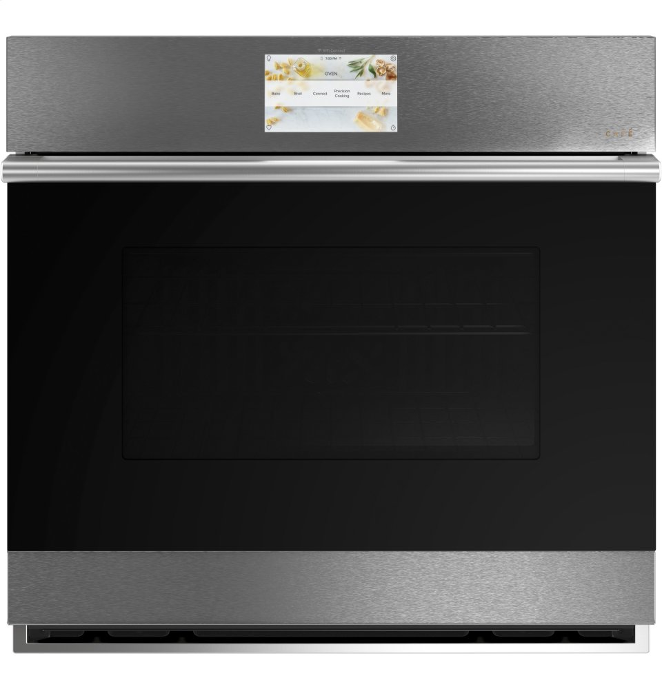 """Cafe Appliances30"""" Smart Single Wall Oven With Convection"""