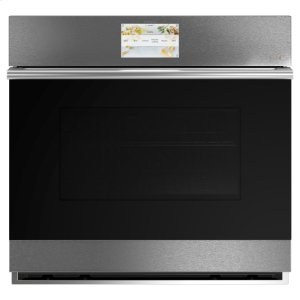 "GE30"" Smart Single Wall Oven with Convection in Platinum Glass"