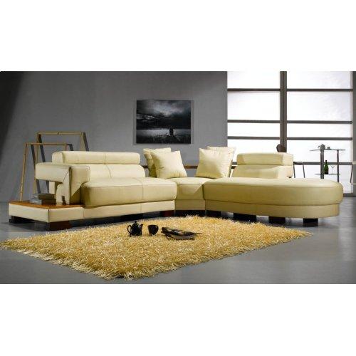 Divani Casa 3331 Modern Bonded Leather Sectional Sofa