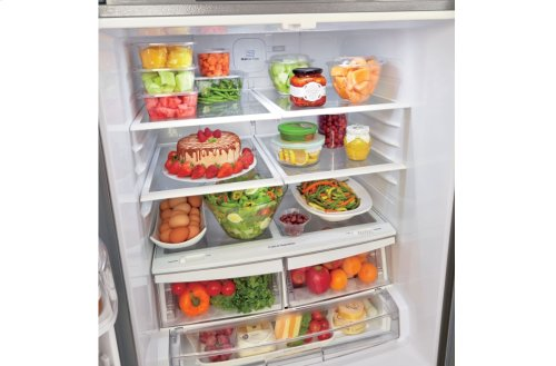 "22 cu. ft. Large Capacity 30"" Wide 3-Door French Door Refrigerator"