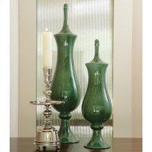Tower Jar-Emerald-Lg