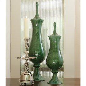 Tower Jar-Emerald-Sm