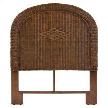 Wicker Twin Headboard Coffee Bean 3707