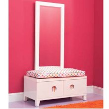 2-Pc. Set: SKETCHoRAMA 288-260 Media Stand/Bench + 288-233 Wall Mirror