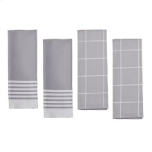 ZWILLING Accessories 4-pc Kitchen Towel Set, Grey