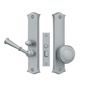 Storm Door Latch, Classic, Mortise Lock - Brushed Chrome