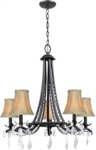 5 Lites Chandelier Lamp - Dark Brz/fabric Shade, E12 B 60wx5 Product Image