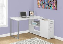 COMPUTER DESK - WHITE LEFT OR RIGHT FACING CORNER