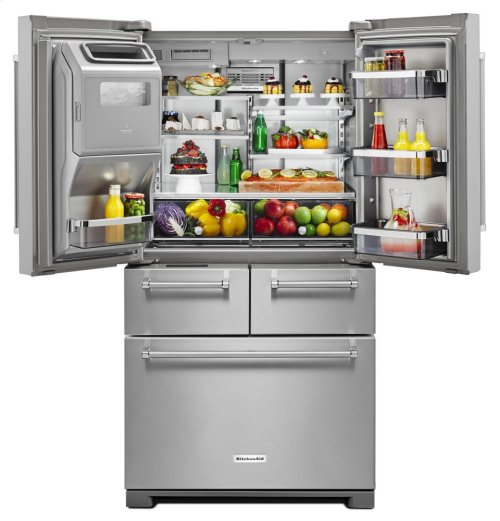 "25.8 Cu. Ft. 36"" Multi-Door Freestanding Refrigerator with Platinum Interior Design - Stainless Steel"