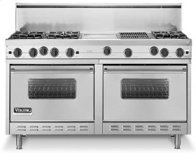 "Almond 60"" Open Burner Commercial Depth Range - VGRC"