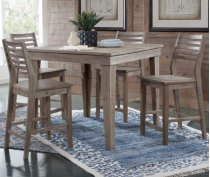 "42"" Square Aspen Table 36""H Gray Wash Product Image"
