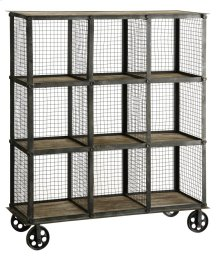 Industria Metal and Wood Bookcase