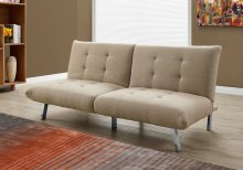FUTON - SPLIT BACK CONVERTIBLE SOFA / SAND LINEN