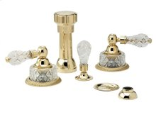 REGENT CUT CRYSTAL Four Hole Bidet Set K4181 - Polished Brass