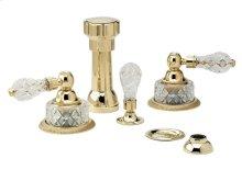 REGENT CUT CRYSTAL Four Hole Bidet Set K4181 - Polished Brass
