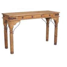 Sofa Table W/conchos