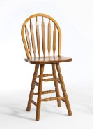 Classic Oak Plain Arrow Counter Stool Product Image