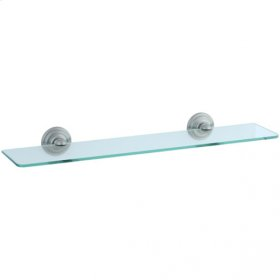 Highlands - Glass Shelf - Unlacquered Brass