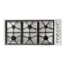 "Heritage 46"" Professional Gas Cooktop, Natural Gas/High Altitude"