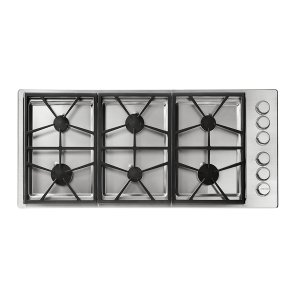 "DacorHeritage 46"" Professional Gas Cooktop, Natural Gas/High Altitude"