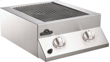 Built-in Flat Top Dual Side Burner Tube Burners , Stainless Steel , Propane
