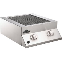 Built-in Flat Top Dual Side Burner Range Burners , Stainless Steel , Propane