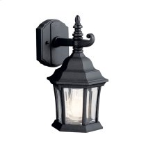 Townhouse 1 Light Wall Light Black